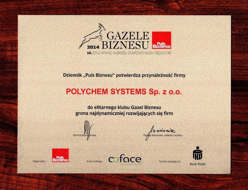 Gazela Biznesu na koncie Polychem Systems
